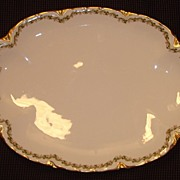 "Haviland Limoges China "" Clover Leaf "" Pattern Medium Sized Platter"