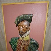 Antique Austrian Glazed Terracotta Tiles Picture - Nobleman