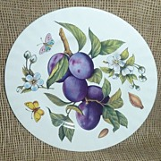 Bone China Made In England Fruit Plate - Peaches/Plums