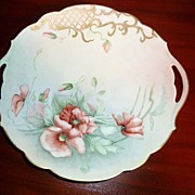 SALE Antique Limoges France - Signed Cake Plate