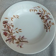 "Lewis Strauss & Sons - Limoge ""Thistle"" Pattern - Soup Bowl"