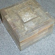 Hand Carved Mother Of Pearl Vanity Box