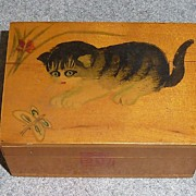 Hand Painted Vanity Box - Cats/ Kitten