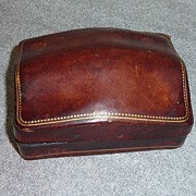 Vintage Turtle/Top Italian Leather  Vanity box