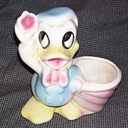 Vintage Disney Donald Duck Planter