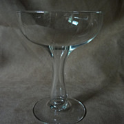Pair of Large Hollow Stem Champagne Glasses