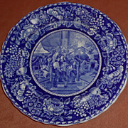 Nautical Rowland & Marsellus Flow Blue Historical Plate Staffordshire