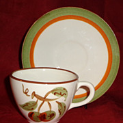 Stangl Pottery - Orchard Song - Cup & Saucer