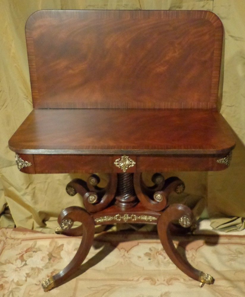 Lloyd Buxton - Regency - Mahogany Flip Top Game Table from pitkin