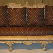 Maitland Smith Cane Back - Rattan - Hand Carved Sofa/Couch