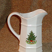 "Pfaltzgraff Christmas Heritage Large 7 1/2"" Pitcher"