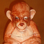 Vietri Figural Monkey Box - Italian