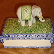 Vietri Figural Elephant Vanity Box - Italian