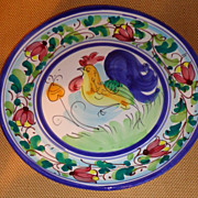 Vietri - Rooster Plate - Hillsborough NC - &quot; Galletto &quot; Pattern