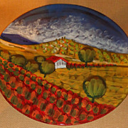 Vietri - Italian Scene - Large Round Platter - 16&quot;