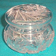 Victorian Cut Crystal Powder Box