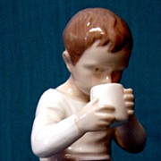 "Bing and Grondahl ""Boy Drinking Milk"" Figurine #1713"