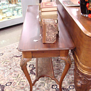 SALE Victorian Solid Mahogany Console/Hall Table