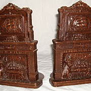 Vintage Syroco Wood Book-Ends