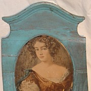 SALE Elegant French Lady Mirrored Portrait