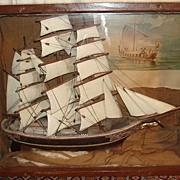 SALE Tall Ship Diorama From Columbian Exposition - Chicago 1893