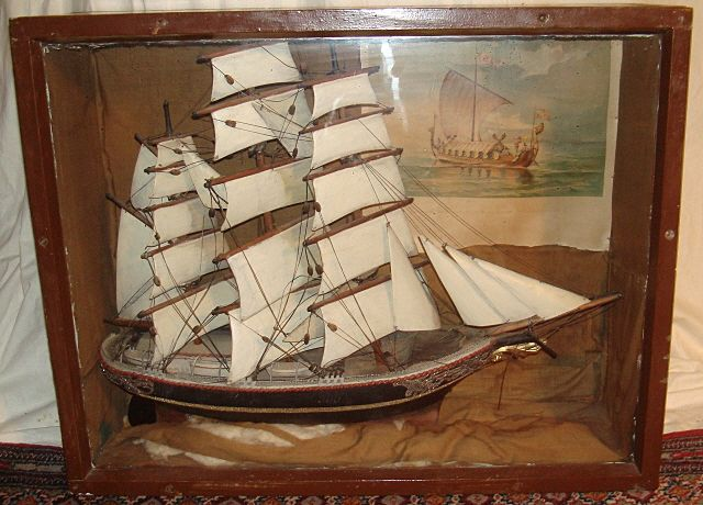 Tall Ship Diorama From Columbian Exposition - Chicago 1893
