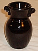L.E.Smith Black Amethyst Vase