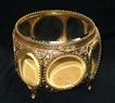 Large Ornate Jewelry Box With Beveled Glass Panels