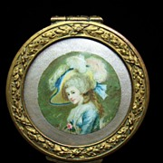 Antique French Box With Portrait Top