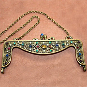 SALE Gorgeous Jeweled Purse Frame Made in Austria