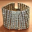 Fabulous 50/60's Wide Sparkling Rhinestone Bracelet