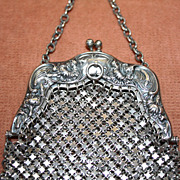 SOLD Antique Sterling Silver Chatelaine Purse R. Blackinton & Co.