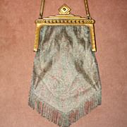 c.1920's Whiting & Davis Dresden Mesh Purse