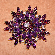 "Fabulous c.1950/60's Large 3"" Diameter Purple Pin"