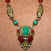 REDUCED Amazing c.1920's Czech Necklace