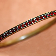 SALE Antique Garnet Bangle Bracelet