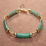 SALE 18kt  and Jade Bracelet