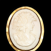 Antique Cameo in Gold Plated Frame
