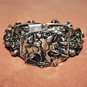 Beautiful Ornate Sterling Bracelet signed Frarico