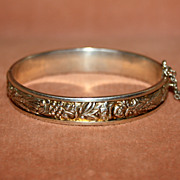 Lovely Sterling Silver Four Seasons Bangle Bracelet