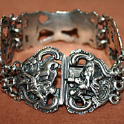 Silver Figural Bracelet With Dutch Hallmarks