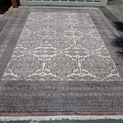 Large Pakistani rug in natural wool