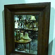 REDUCED Federal Ogee framed mahogany mirror