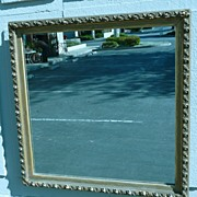 REDUCED 1900 - Square ornate gilt wood mirror