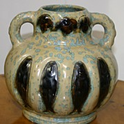 REDUCED French vase with crystalline glaze