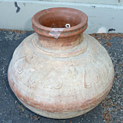 REDUCED Antique Afghan terracotta water jar