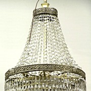 REDUCED 1920 - Wonderful Art Deco 8-tier crystal chandelier