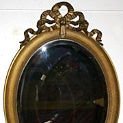 REDUCED 1900 - Louis XVI style gilt wood mirror
