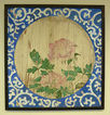 Late 19th century Japanese floral wood panel