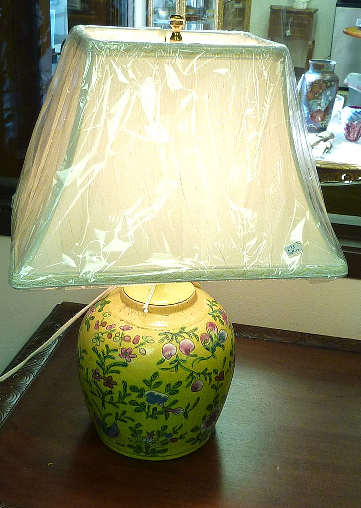 19th century chinese ginger jar transformed into lamp from. Black Bedroom Furniture Sets. Home Design Ideas